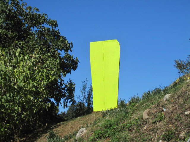 sculptureBrightYellow, john griefen, painting