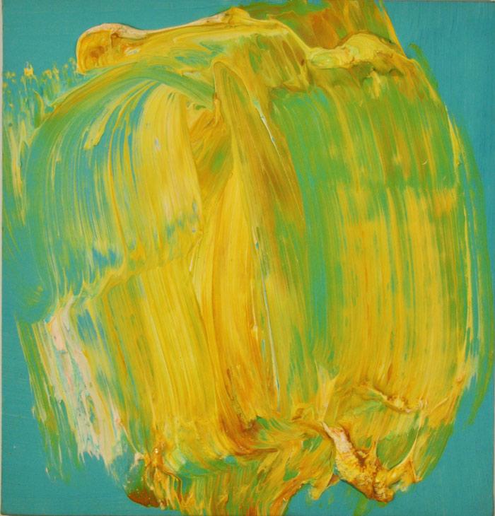 Untitled-(Yellow-on-Turquoi